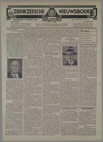 Zierikzeesche Nieuwsbode 1936-01-09