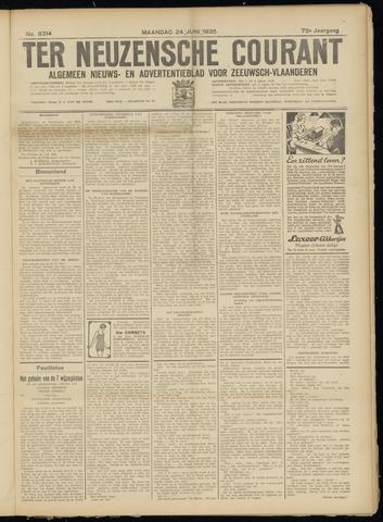 Ter Neuzensche Courant. Algemeen Nieuws- en Advertentieblad voor Zeeuwsch-Vlaanderen / Neuzensche Courant ... (idem) / (Algemeen) nieuws en advertentieblad voor Zeeuwsch-Vlaanderen 1935-06-24