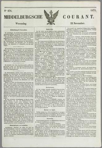 Middelburgsche Courant 1871-11-22