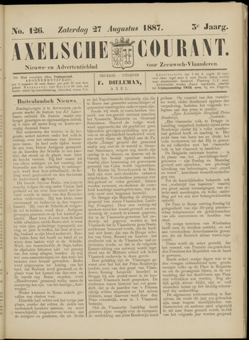 Axelsche Courant 1887-08-27