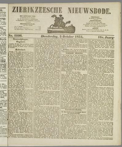 Zierikzeesche Nieuwsbode 1854-10-05