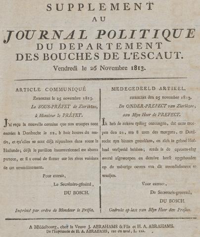 Middelburgsche Courant 1813-11-26