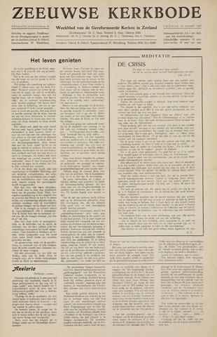 Zeeuwsche kerkbode, weekblad gewijd aan de belangen der gereformeerde kerken/ Zeeuwsch kerkblad 1957-03-15