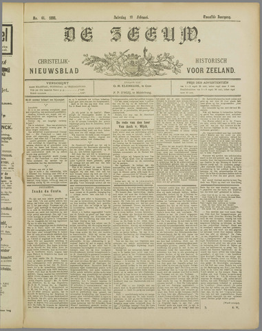 De Zeeuw. Christelijk-historisch nieuwsblad voor Zeeland 1898-02-19