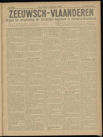 Luctor et Emergo. Antirevolutionair nieuws- en advertentieblad voor Zeeland / Zeeuwsch-Vlaanderen. Orgaan ter verspreiding van de christelijke beginselen in Zeeuwsch-Vlaanderen 1920-10-09