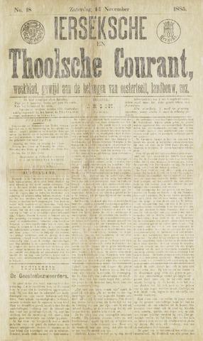 Ierseksche en Thoolsche Courant 1885-11-14