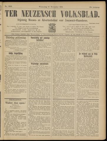 Ter Neuzensch Volksblad. Vrijzinnig nieuws- en advertentieblad voor Zeeuwsch- Vlaanderen / Zeeuwsch Nieuwsblad. Nieuws- en advertentieblad voor Zeeland 1912-11-27