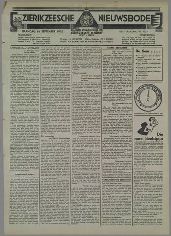 Zierikzeesche Nieuwsbode 1936-09-14