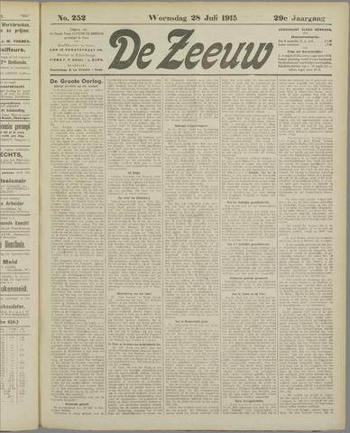 De Zeeuw. Christelijk-historisch nieuwsblad voor Zeeland 1915-07-28