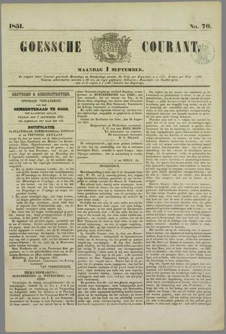 Goessche Courant 1851-09-01