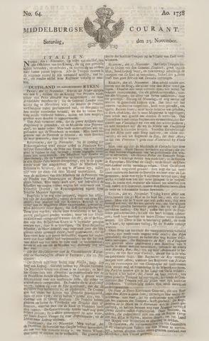 Middelburgsche Courant 1758-11-25