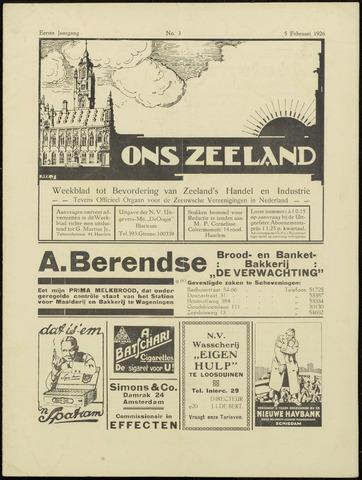 Ons Zeeland / Zeeuwsche editie 1926-02-05