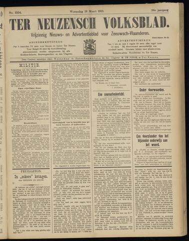 Ter Neuzensch Volksblad. Vrijzinnig nieuws- en advertentieblad voor Zeeuwsch- Vlaanderen / Zeeuwsch Nieuwsblad. Nieuws- en advertentieblad voor Zeeland 1913-03-19