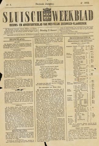 Sluisch Weekblad. Nieuws- en advertentieblad voor Westelijk Zeeuwsch-Vlaanderen 1872