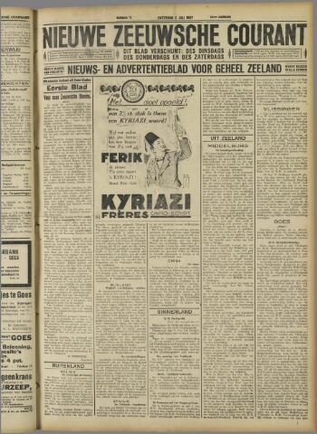 Nieuwe Zeeuwsche Courant 1927-07-02