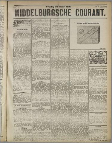 Middelburgsche Courant 1921-03-25