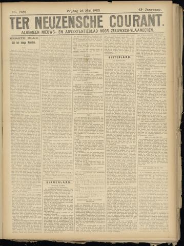 Ter Neuzensche Courant. Algemeen Nieuws- en Advertentieblad voor Zeeuwsch-Vlaanderen / Neuzensche Courant ... (idem) / (Algemeen) nieuws en advertentieblad voor Zeeuwsch-Vlaanderen 1923-05-25