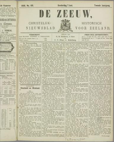 De Zeeuw. Christelijk-historisch nieuwsblad voor Zeeland 1888-06-07