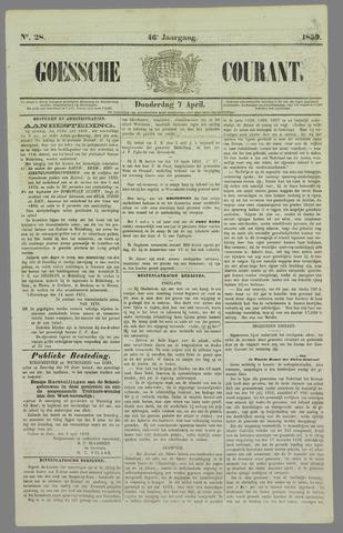 Goessche Courant 1859-04-07