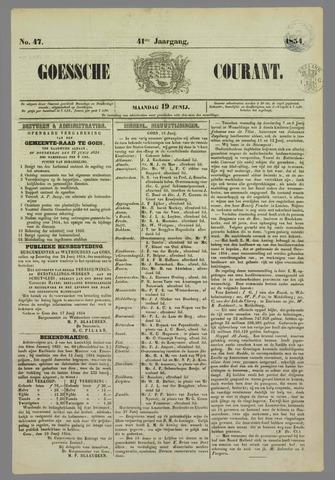 Goessche Courant 1854-06-19