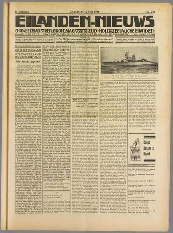 Eilanden-nieuws. Christelijk streekblad op gereformeerde grondslag 1936-05-02