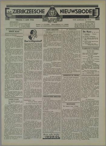 Zierikzeesche Nieuwsbode 1936-06-05