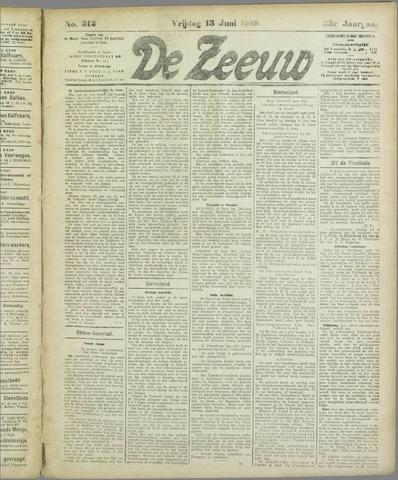 De Zeeuw. Christelijk-historisch nieuwsblad voor Zeeland 1919-06-13