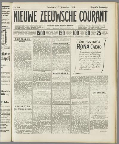 Nieuwe Zeeuwsche Courant 1913-11-27