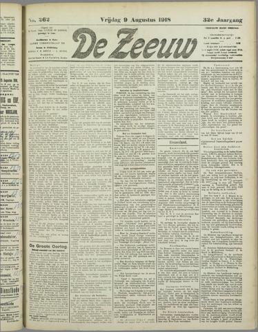 De Zeeuw. Christelijk-historisch nieuwsblad voor Zeeland 1918-08-09