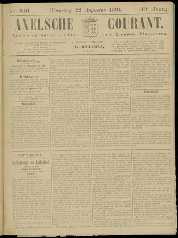 Axelsche Courant 1894-08-22