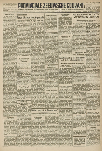 Provinciale Zeeuwse Courant 1946-06-26