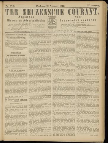 Ter Neuzensche Courant. Algemeen Nieuws- en Advertentieblad voor Zeeuwsch-Vlaanderen / Neuzensche Courant ... (idem) / (Algemeen) nieuws en advertentieblad voor Zeeuwsch-Vlaanderen 1912-11-28