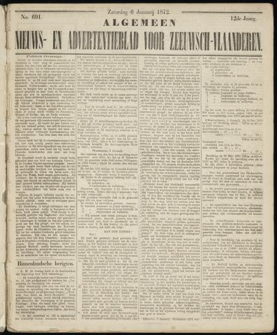 Ter Neuzensche Courant. Algemeen Nieuws- en Advertentieblad voor Zeeuwsch-Vlaanderen / Neuzensche Courant ... (idem) / (Algemeen) nieuws en advertentieblad voor Zeeuwsch-Vlaanderen 1872-01-06