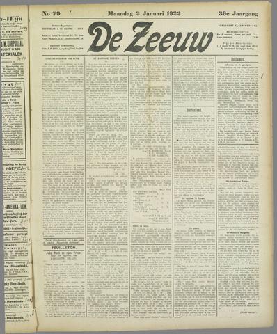 De Zeeuw. Christelijk-historisch nieuwsblad voor Zeeland 1922