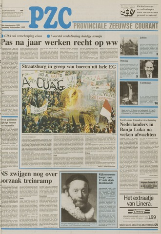 Provinciale Zeeuwse Courant 1992-12-02