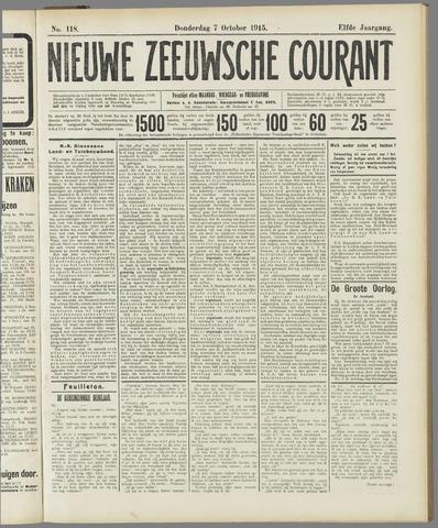 Nieuwe Zeeuwsche Courant 1915-10-07