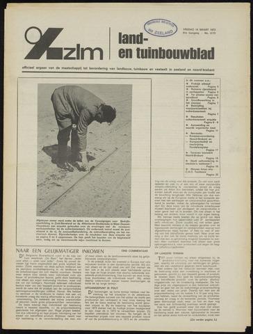 Zeeuwsch landbouwblad ... ZLM land- en tuinbouwblad 1973-03-16