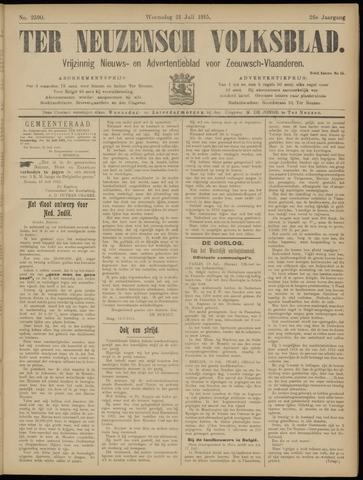 Ter Neuzensch Volksblad. Vrijzinnig nieuws- en advertentieblad voor Zeeuwsch- Vlaanderen / Zeeuwsch Nieuwsblad. Nieuws- en advertentieblad voor Zeeland 1915-07-21