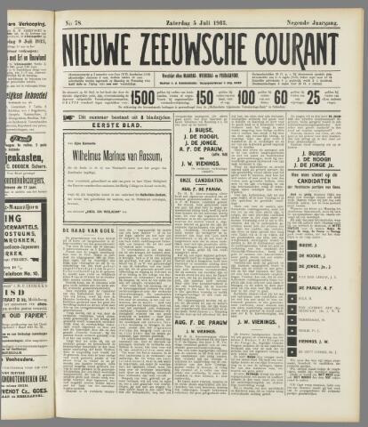 Nieuwe Zeeuwsche Courant 1913-07-05