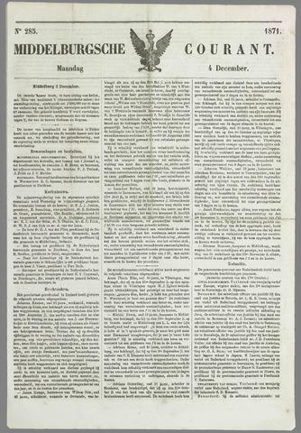 Middelburgsche Courant 1871-12-04