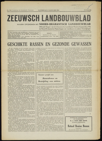 Zeeuwsch landbouwblad ... ZLM land- en tuinbouwblad 1953-01-17