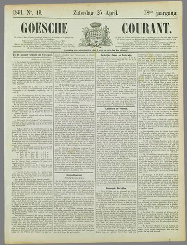 Goessche Courant 1891-04-25