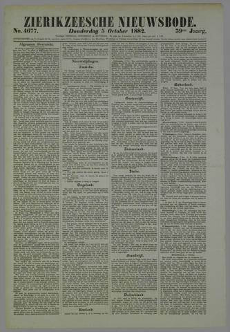 Zierikzeesche Nieuwsbode 1882-10-05