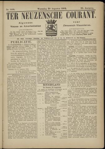 Ter Neuzensche Courant. Algemeen Nieuws- en Advertentieblad voor Zeeuwsch-Vlaanderen / Neuzensche Courant ... (idem) / (Algemeen) nieuws en advertentieblad voor Zeeuwsch-Vlaanderen 1882-08-30