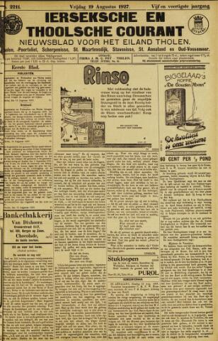 Ierseksche en Thoolsche Courant 1927-08-19