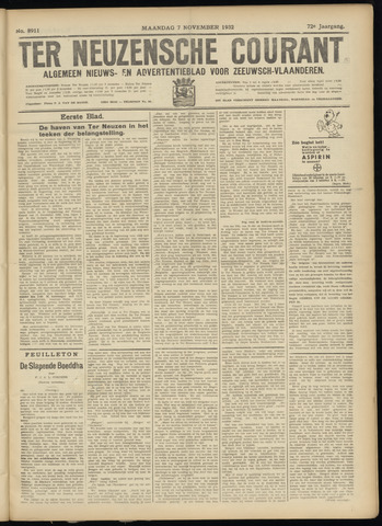Ter Neuzensche Courant. Algemeen Nieuws- en Advertentieblad voor Zeeuwsch-Vlaanderen / Neuzensche Courant ... (idem) / (Algemeen) nieuws en advertentieblad voor Zeeuwsch-Vlaanderen 1932-11-07