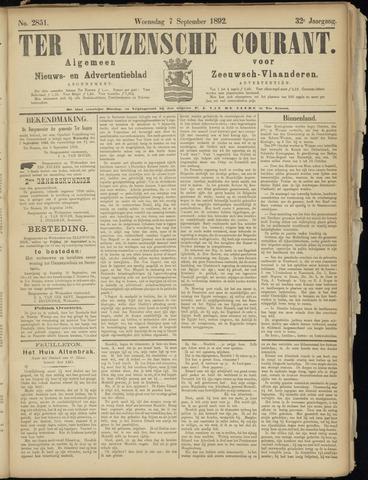 Ter Neuzensche Courant. Algemeen Nieuws- en Advertentieblad voor Zeeuwsch-Vlaanderen / Neuzensche Courant ... (idem) / (Algemeen) nieuws en advertentieblad voor Zeeuwsch-Vlaanderen 1892-09-07