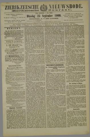 Zierikzeesche Nieuwsbode 1900-09-25