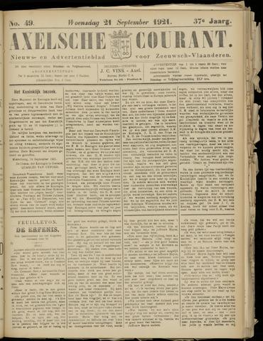 Axelsche Courant 1921-09-21