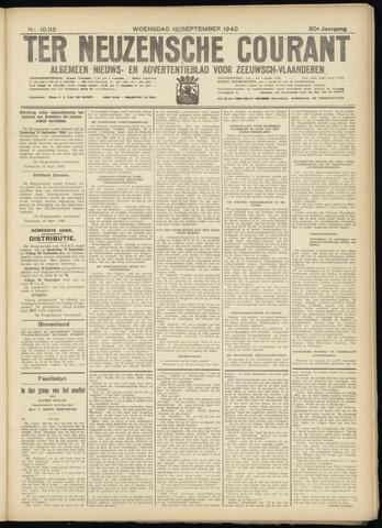 Ter Neuzensche Courant. Algemeen Nieuws- en Advertentieblad voor Zeeuwsch-Vlaanderen / Neuzensche Courant ... (idem) / (Algemeen) nieuws en advertentieblad voor Zeeuwsch-Vlaanderen 1940-09-18